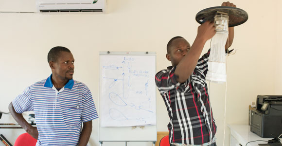 Local communities are educated in malaria prevention.