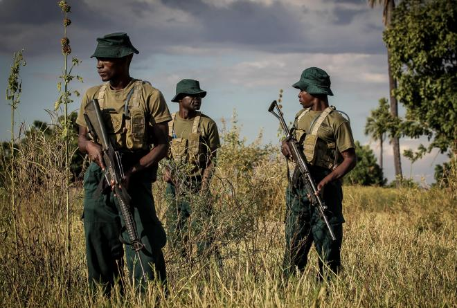 Rangers at Liwonde National Park in Malawi